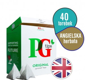 ♔ PG Tips Original 40 szt ♔